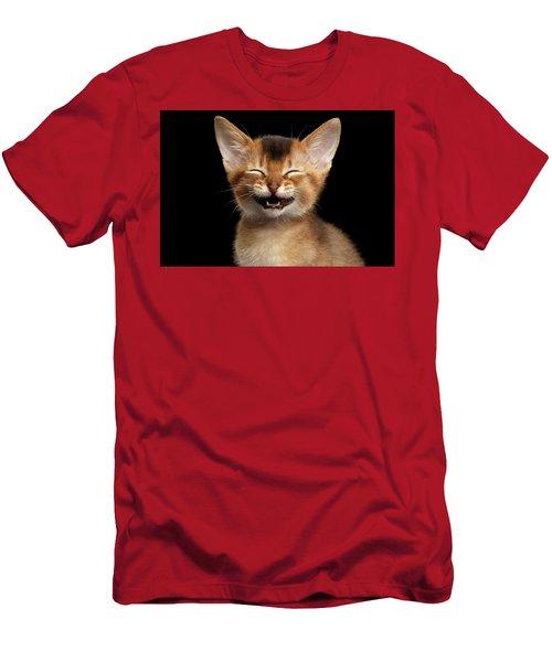 Laughing Kitten  Men's T-Shirt (Athletic Fit)