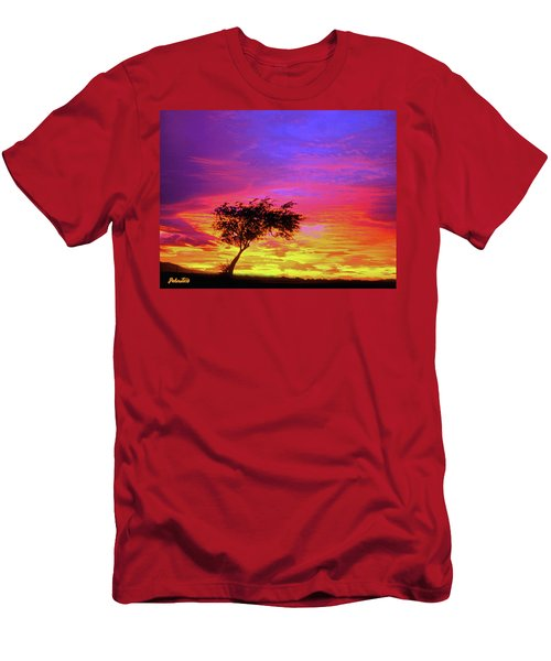 Leaning Tree At Sunset Men's T-Shirt (Athletic Fit)