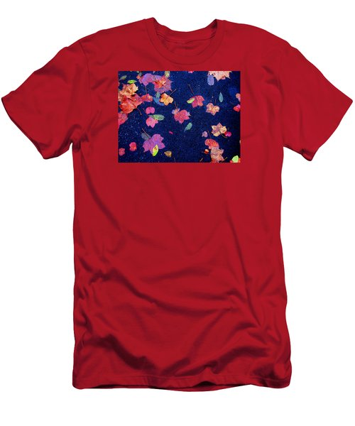 Leaves Men's T-Shirt (Slim Fit) by Christopher Woods