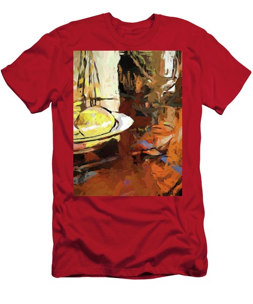 Lemon Bowl Wine Glass Fork Men's T-Shirt (Athletic Fit)