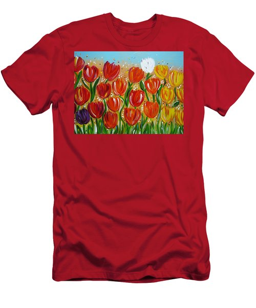 Les Tulipes - The Tulips Men's T-Shirt (Slim Fit) by Gioia Albano