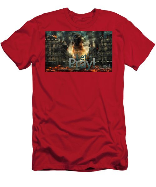 Men's T-Shirt (Athletic Fit) featuring the digital art Let Us Pray-2 by Kathy Tarochione