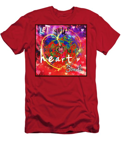 Let Your Heart Smile Men's T-Shirt (Athletic Fit)