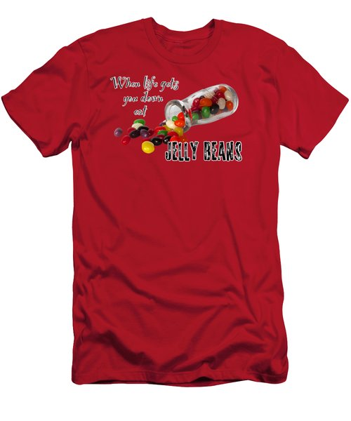 Life And Jelly Beans Men's T-Shirt (Slim Fit) by Phyllis Denton