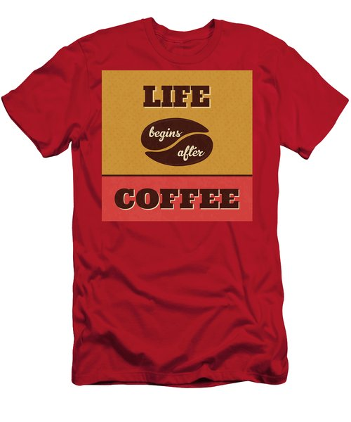 Life Begins After Coffee Men's T-Shirt (Athletic Fit)