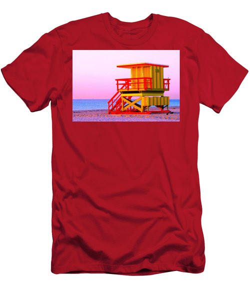 Lifeguard Stand Miami Beach Men's T-Shirt (Athletic Fit)