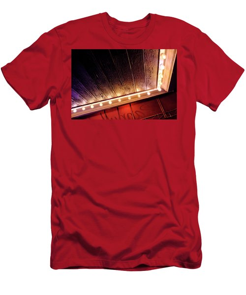 Lighted Corner In Red Black Annd Yellow In Winter Park Florida Men's T-Shirt (Athletic Fit)