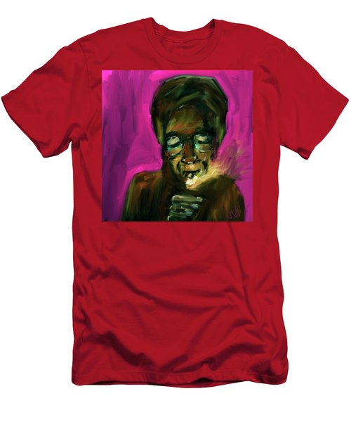 Lighting Up Men's T-Shirt (Slim Fit) by Jim Vance