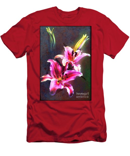 Lilies At Night Men's T-Shirt (Athletic Fit)