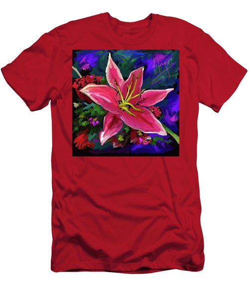 Lily Men's T-Shirt (Slim Fit) by DC Langer