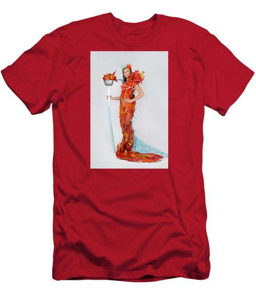 Lily In Fire And Ice Queen Men's T-Shirt (Athletic Fit)