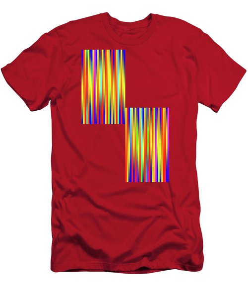 Men's T-Shirt (Slim Fit) featuring the digital art Lines 17 by Bruce Stanfield