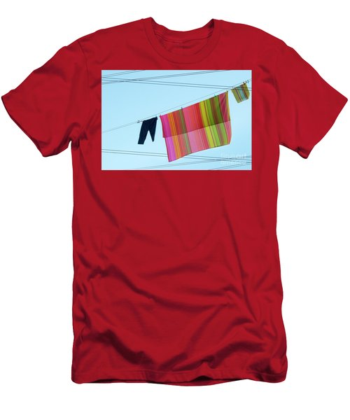Lines In The Sky Men's T-Shirt (Slim Fit) by Ana Mireles