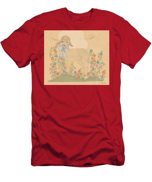 Little Lamb Men's T-Shirt (Athletic Fit)