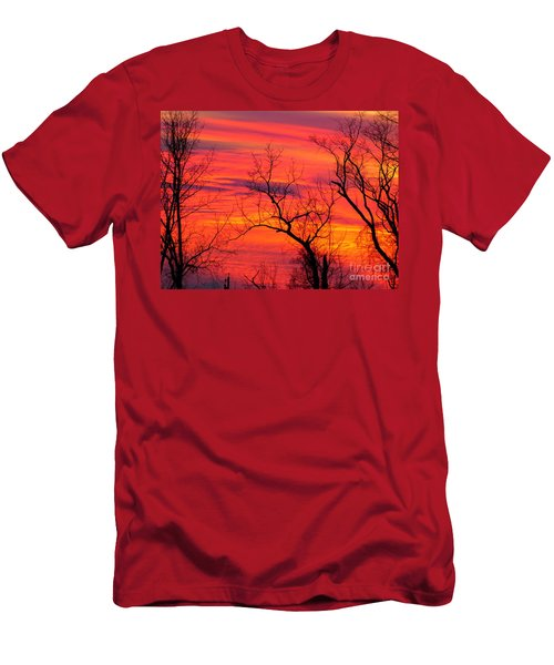 Little More Color At Sunset Men's T-Shirt (Athletic Fit)