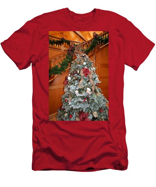 Lodge Lobby Tree Men's T-Shirt (Athletic Fit)