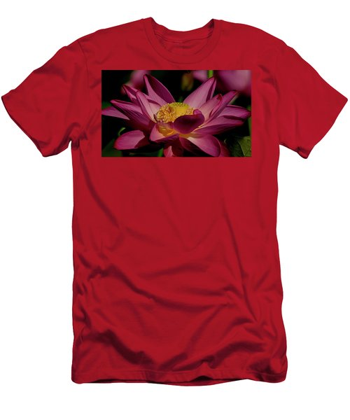 Men's T-Shirt (Athletic Fit) featuring the photograph Lotus Flower 7 by Buddy Scott