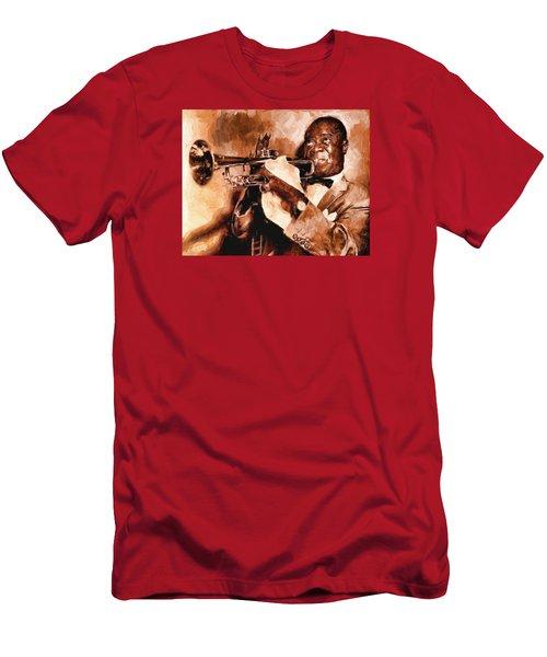 Louis Armstrong Men's T-Shirt (Slim Fit) by Louis Ferreira