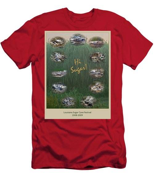 Louisiana Sugar Cane Poster 2008-2009 Men's T-Shirt (Slim Fit) by Ronald Olivier