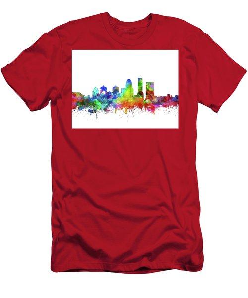 Louisville Kentucky Skyline Watercolor Men's T-Shirt (Athletic Fit)