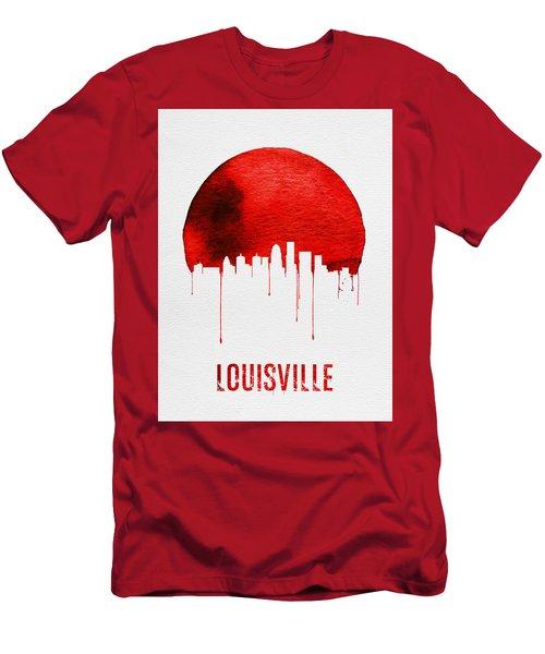 Louisville Skyline Red Men's T-Shirt (Athletic Fit)