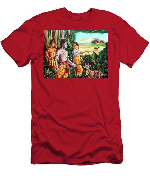 Love And Valour- Ramayana- The Divine Saga Men's T-Shirt (Slim Fit) by Ragunath Venkatraman