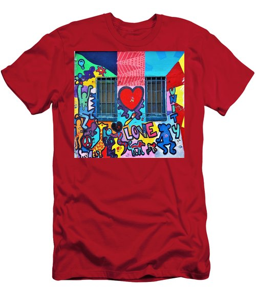 Love Haring  Men's T-Shirt (Athletic Fit)