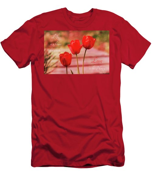 Men's T-Shirt (Athletic Fit) featuring the photograph Love Is The Honey by Trina Ansel