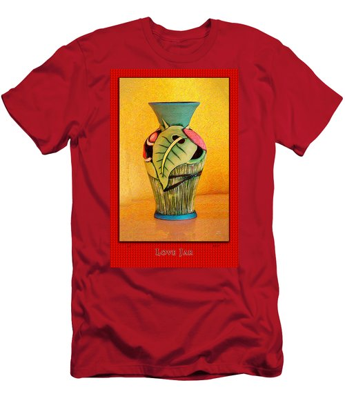 Love Jar Red Background Men's T-Shirt (Athletic Fit)