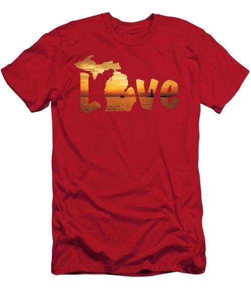 Love Lake Michigan Men's T-Shirt (Athletic Fit)