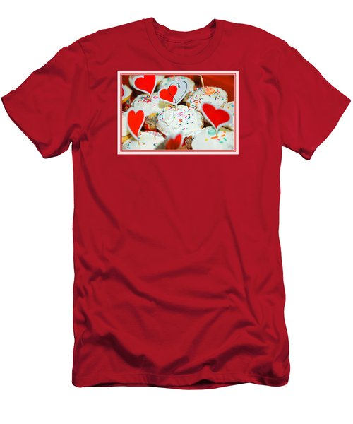 Men's T-Shirt (Slim Fit) featuring the photograph Love Me by Mary Timman