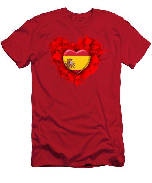 Love Spain Men's T-Shirt (Slim Fit) by Alberto RuiZ