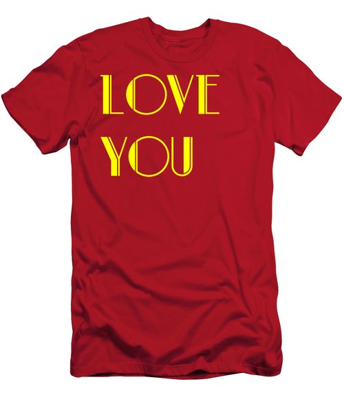 Love You Men's T-Shirt (Athletic Fit)