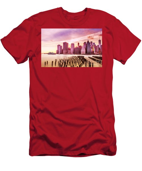 Lower Manhattan And Ferry Men's T-Shirt (Athletic Fit)