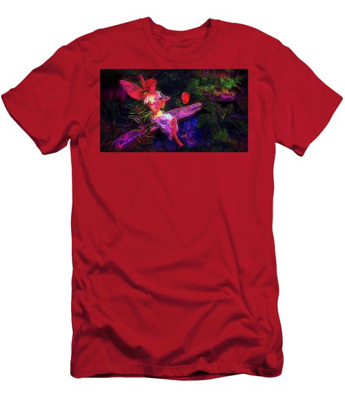 Men's T-Shirt (Slim Fit) featuring the photograph Luminescent Night Fairy by Lori Seaman