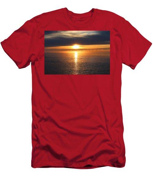 Lutsen Shore Sunrise Two Men's T-Shirt (Athletic Fit)