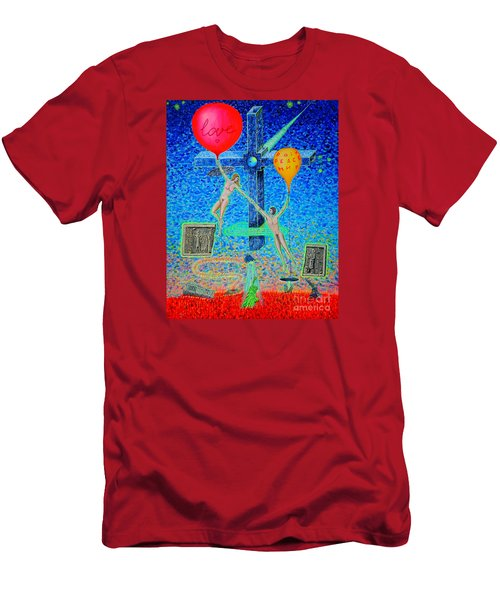 Men's T-Shirt (Slim Fit) featuring the painting L.v P. by Viktor Lazarev