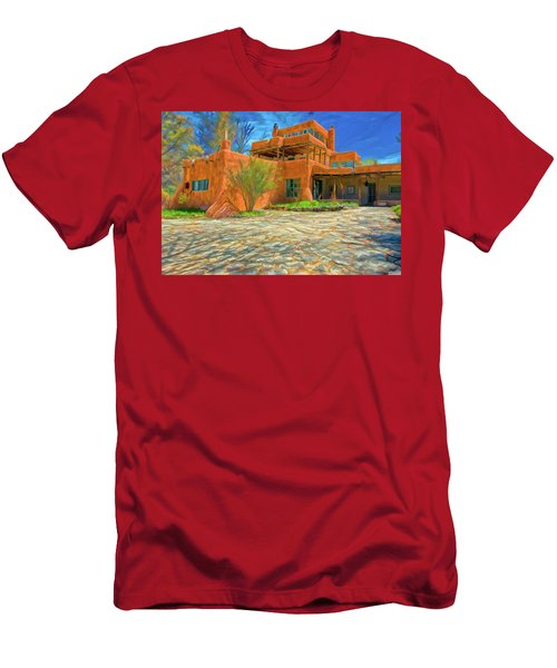 Mabel Dodge Luhan House As Oil Men's T-Shirt (Athletic Fit)
