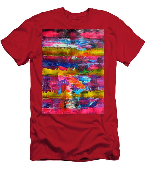 Men's T-Shirt (Slim Fit) featuring the painting Mad Season by Everette McMahan jr