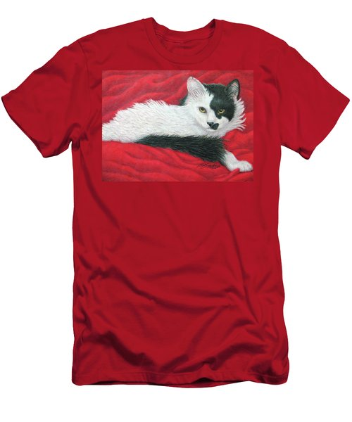 Maddie In Red Men's T-Shirt (Athletic Fit)