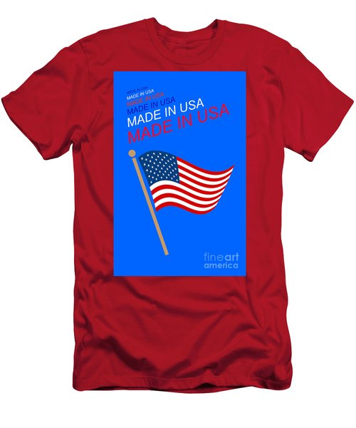 Made In Usa Men's T-Shirt (Athletic Fit)