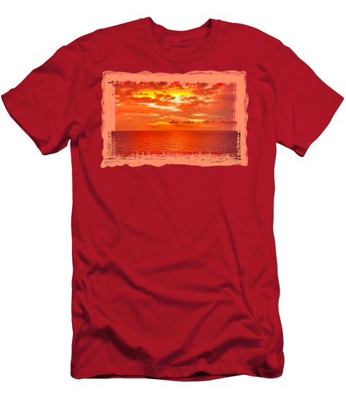 Magical Caribbean Sunset 2 Men's T-Shirt (Athletic Fit)