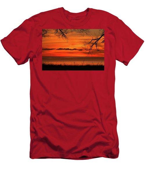 Magical Orange Sunset Sky Men's T-Shirt (Athletic Fit)