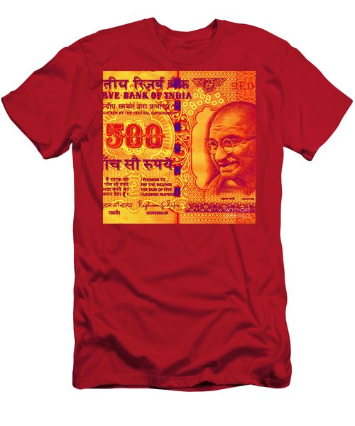Mahatma Gandhi 500 Rupees Banknote Men's T-Shirt (Athletic Fit)