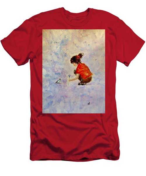 Men's T-Shirt (Slim Fit) featuring the painting Make A Wish 20 by Cristina Mihailescu