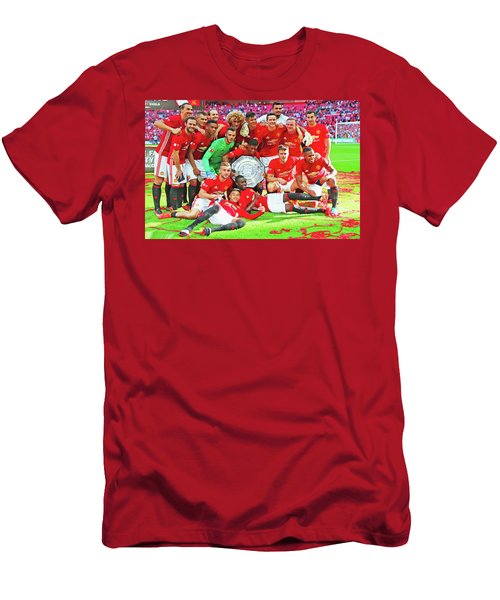 Manchester United Celebrates Men's T-Shirt (Slim Fit) by Don Kuing