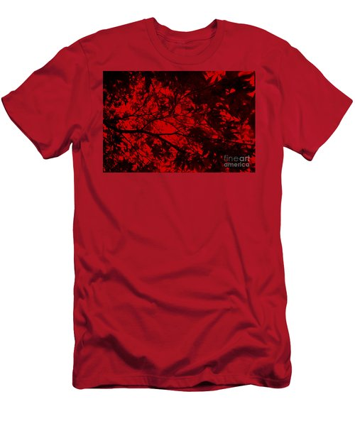 Maple Dance In Red Velvet Men's T-Shirt (Slim Fit) by Paul Cammarata