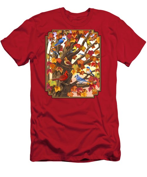 Maple Tree Marvel - Bird Painting Men's T-Shirt (Athletic Fit)