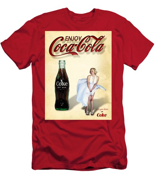 Marilyn Coca Cola Girl 3 Men's T-Shirt (Athletic Fit)