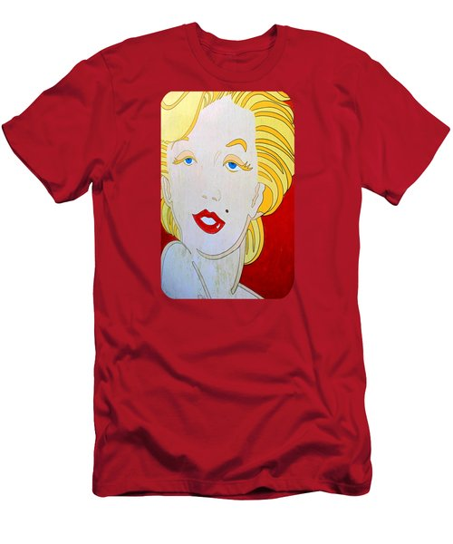 Marilyn Men's T-Shirt (Slim Fit) by Ethna Gillespie